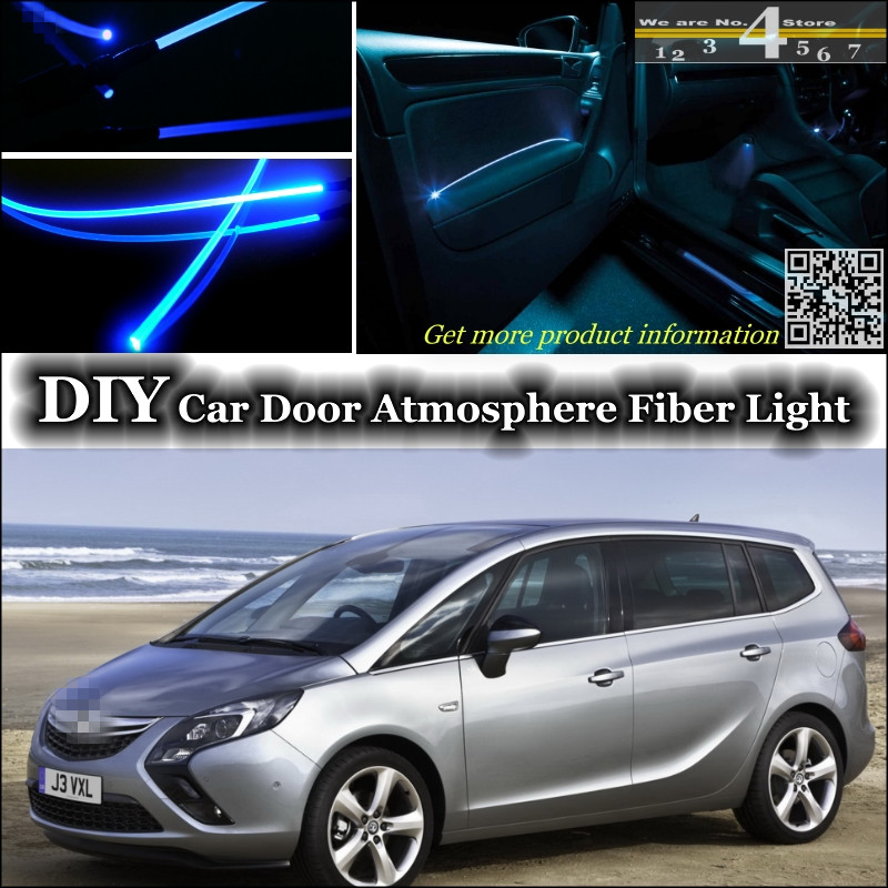 interior Ambient Light Tuning Atmosphere Fiber Optic Band Lights For Opel Zafira A / B / C For Chevrolet Zafira Tourer Inside