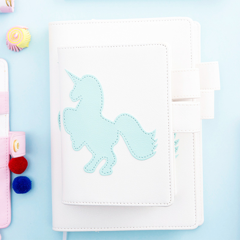 Lovedoki Notebook korean fresh Unicorn A5A6 personal Planner diary weekly schedule book for girl gift Stationery school supplies tutu lovedoki foil gold notebook 2018 a6 planner traveler s notebook personal diary gift stationery store school supplies g0002