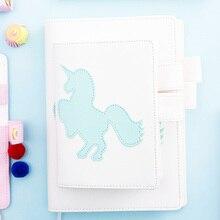 Купить онлайн Lovedoki Тетрадь корейский свежий Единорог A5A6 личный дневник планировщик еженедельный график книга для подарки для девочек канцелярские школьные принадлежности