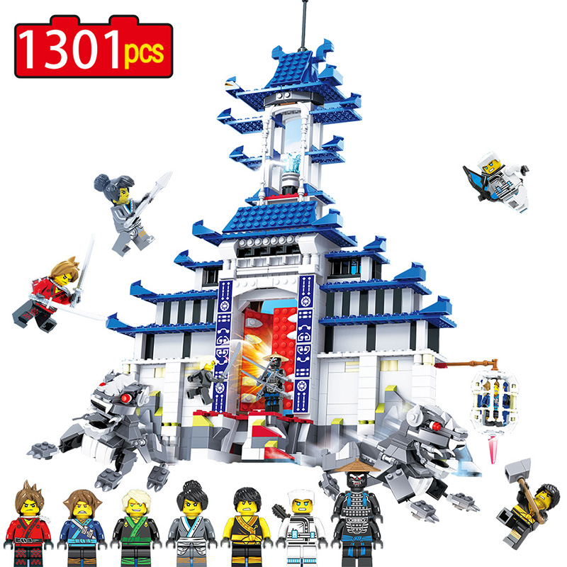 Ninjagoed Movie Temple of the Ultimate Ultimate Weapon Compatible Legoingly Ninjagoed Action Figures Building Blocks Bricks Toys 588pcs bricks diy ninjagoed movie building blocks compatible legoingly shark ninjagoed mini action figures blocks children toys