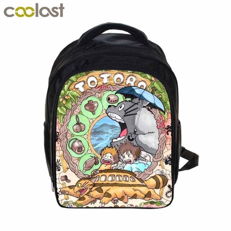 Anime Tonari no Totoro Backpacks For Kids Boys Girls School Bags Cartoon Printing Backpacks Children school Bag Mochila Escolar kids blocks cartoon pikachu tonari no totoro my neighbor totoro diy model building blocks children gifts learning