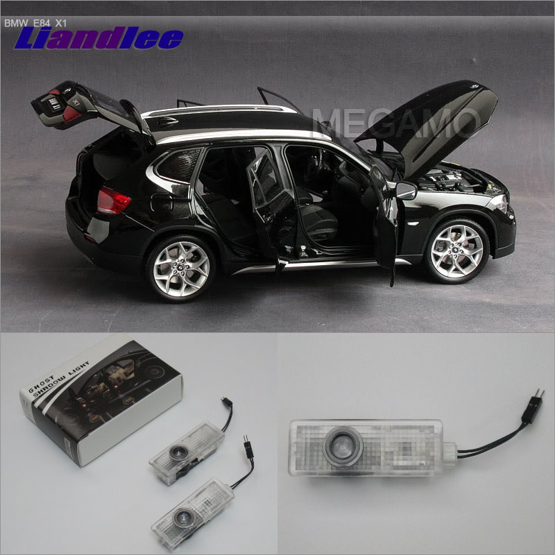 Liandlee For BMW E84 2014 / BMW F01/F02/F03/F04 2009~2014 Door Lights Car LED Projector Welcome Light Courtesy Doors Lamp f