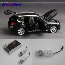 Liandlee For BMW E84 2014 / BMW F01/F02/F03/F04 2009~2014 Door Lights Car LED Projector Welcome Light Courtesy Doors Lamp 2x white led interior vanity mirror lamp light for f01 f02 f03 f04 f07 f10 canbus no error free