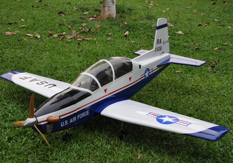 Sport Scale Plane T 6A Texan II RC Airplane Gas 8 CH 30cc 78.7 Balsa Wood Model
