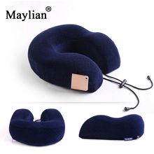 soft Memory Foam U Shaped Neck Pillow Health Care Pillow Airplane Car Travel Pillows For Adults Baby Office Flight Gift bag p172