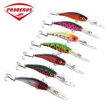1PC 101mm 7.6g Colorful  Minnow Fishing Lure Floating Crankbait Artificial Hard Bait Bass Wobbler Long Tongue Sea
