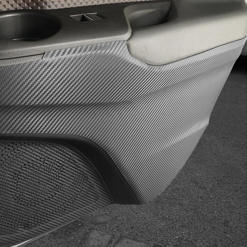 Carbon Fiber Leather Anti Kick Interior Door Frame Film Sticker For Toyota C-HR 2018 Car Door Pad For Toyota C-HR 2017 2018 2019