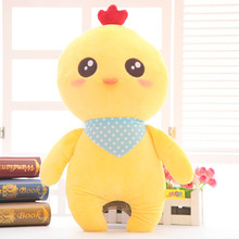 about 40cm cartoon chicken plush toy scarf style chick soft doll throw pillow toy birthday present Xmas gift c859
