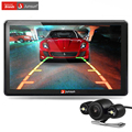 Junsun 7 inch Car GPS Navigation Bluetooth with Rear view Camera FM AVIN 256MB DDR/800MHZ Detailed Maps with Free Updates