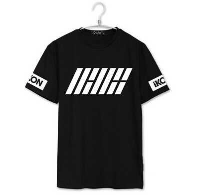 Ikon debut welcome back member name printing o neck short sleeve t shirt  kpop summer t-shirt for fans top tees