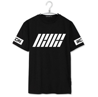 Ikon Debut Welcome Back Member Name Printing O Neck Short Sleeve T Shirt Kpop Summer T