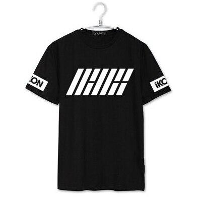 Ikon debut welcome back member name printing o neck short sleeve   t     shirt   kpop summer   t  -  shirt   for fans top tees