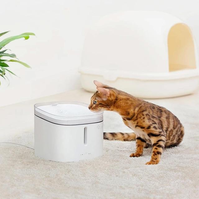 Youpin dispensador de água para animais, dispensador de água para cães e gatos, fonte elétrica automática para beber água, 2l, animal de estimação inteligente