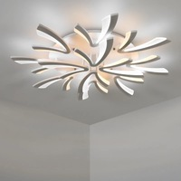 LODOOO Best Hot Designer Living Room Bedroom Study Room Chandelier White Or Black Modern Led Ceiling