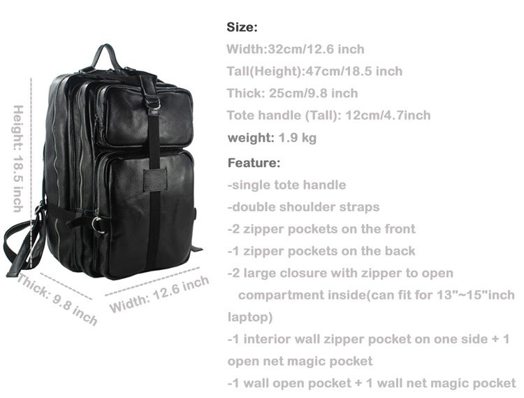 Luggage & Bags New 2015 Korean Style Genuine Leather Mens Backpack Travel Bag Leather School Backpack For Teenage Book Bag Black Brown M150