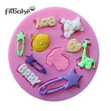 FILBAKE 1PC Baby Theme  Carriage Fondant Moulds Silicone Cake Mold Chocolate Soap Stencils Kitchen Pastry Baking Tools