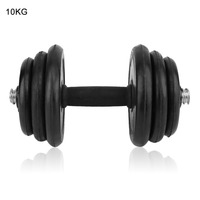 10KG Adjustable Exercise Dumbbell Weight Lifting Set Barbells Muscle Build Workout Crossfit Equipment For Weight Loss