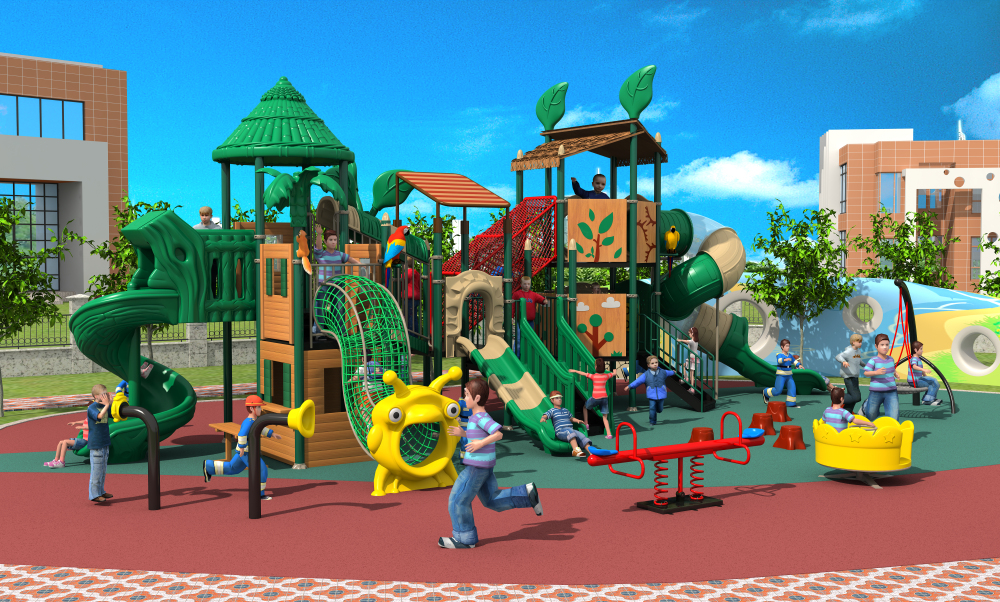 outdoor play structure for school amusement park outdoor playground for kids YLW020