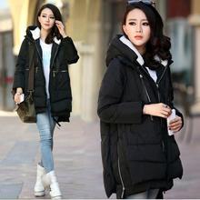 Модное зимнее пальто для беременных, уплотненный пуховик, пальто для беременных женщин, свободная верхняя одежда, одежда для беременных, пальто больших M-5XL