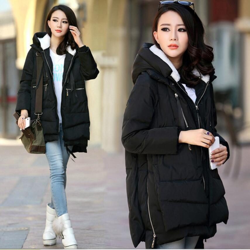 2018 fashion Maternity Winter Coat Thicken Down Jacket Coat for Pregnant Women loose Outerwear Pregnancy Clothes Plus M-5XL coat fashion maternity coat with fur hooded thicken winter coat for pregnant women jacket m 2xl plus pregnancy overcoat windbreaker