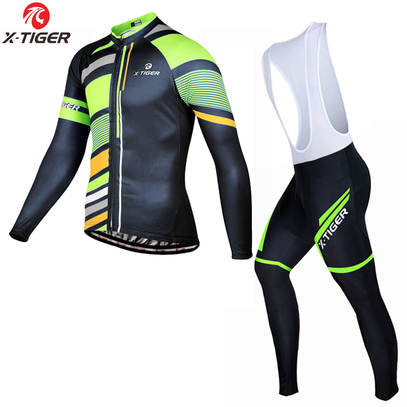 X-Tiger 2018 Cycling Clothing Set Quick-dry Bicycle Wear Long Sleeve MTB Bike Jersey Ropa Maillot Ciclismo Cycling Wear Kit