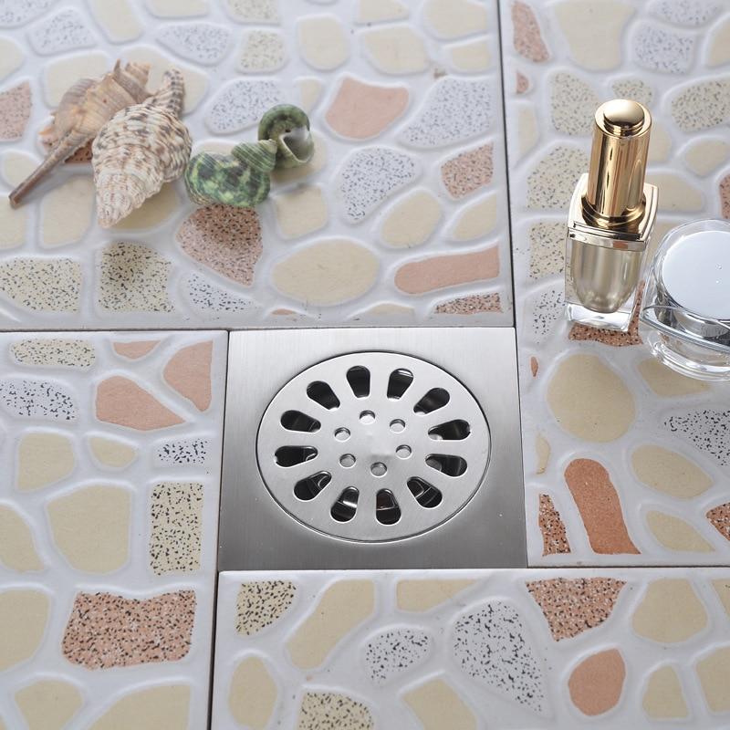 10cm x 10cm Shower Floor Square Drain Bathroom Toilet ...