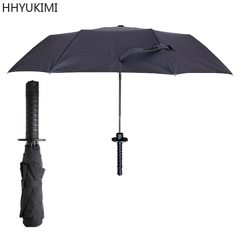 Parasol SAMURAI Stylish Gift Extra Long Handle Rain Protect Carrying Case
