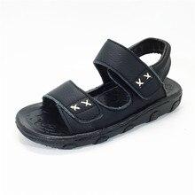 2016 Cow Muscle Fretwork Діти Одяг sandalia infantil Літній пляж Хлопчики Сандалії chaussure enfant Дитячий хлопчик Sandale Дитяче взуття