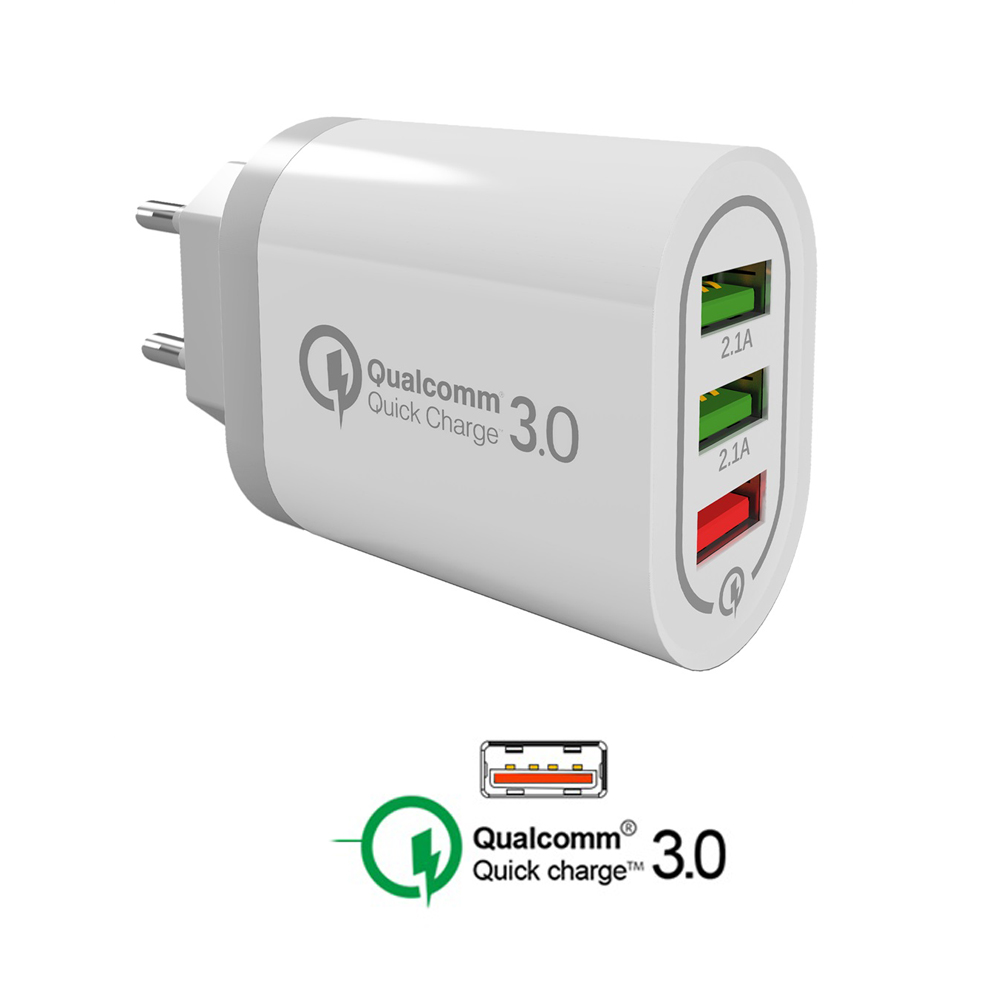 Quick charge 3 0 QC 3 0 USB Fast Wall Charger for Iphone X XS Samsung