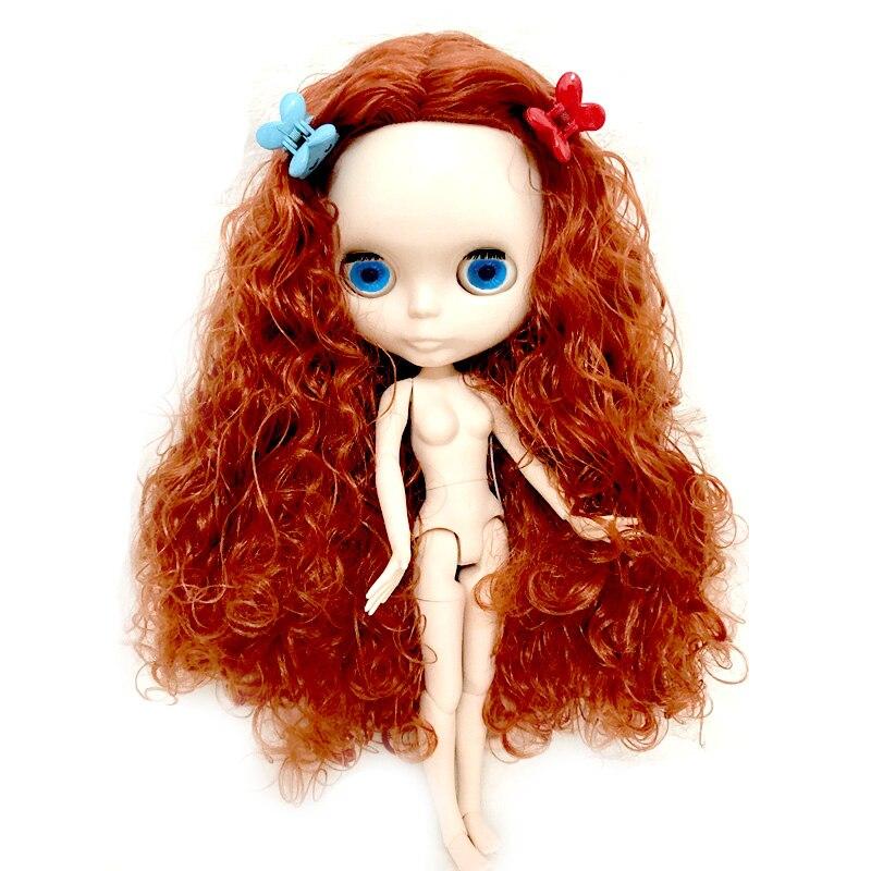 Bricolage cheveux bouclés ondulés néo Blyth poupée nue poupées personnalisées peuvent changer de maquillage et robe bricolage, 1/6 poupées articulées
