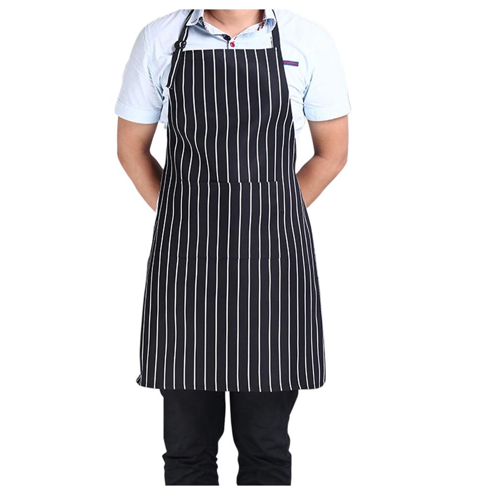 White apron cheap - Hotels Chef Waiter Halter Neck Apron Black White Stripe Halter Neck Apron China Mainland