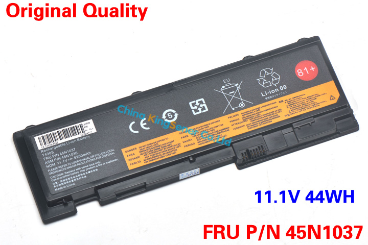 ФОТО 44WH New Laptop Battery For Lenovo ThinkPad t420s t420si t430s t430si 45N1039 45N1037 45N1036 42T4846 42T4847 2 Years Warranty