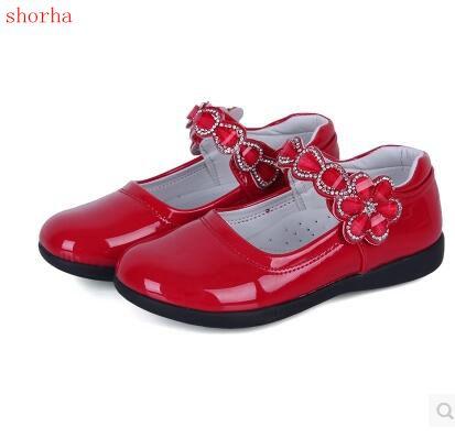 2a590a52d Niños zapatos niñas Negro niña nueva moda casual zapatos para 3 12 años  suela de goma zapatos planos para niñas niños tamaño en Zapatillas de  Atletismo de ...
