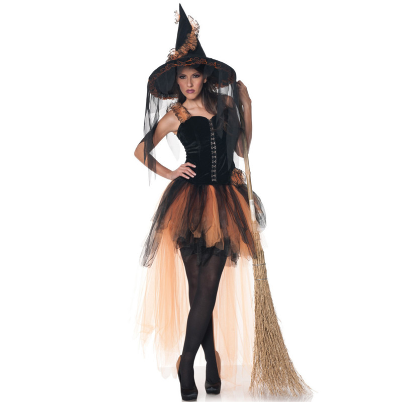 2018 new sexy Witch Costume temperament Womens Magic Moment clothing party dress Adult witch cosplay costumes for halloween
