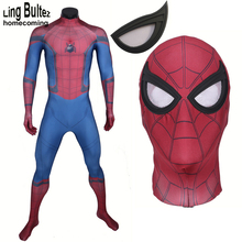 Ling Bultez High Quality 2017 Homecoming Spiderman Costume Newest Movie Spider Man Spandex Suit