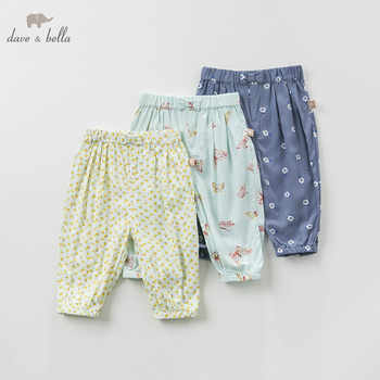 DB5456 dave bella spring baby girls pants children full length kids printed pants infant toddler trousers - DISCOUNT ITEM  50% OFF All Category