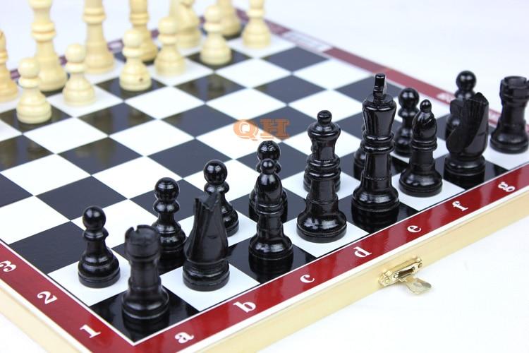Φυσικό ξύλινο σκάκι μικρό / μεσαίο / - Ψυχαγωγία - Φωτογραφία 2