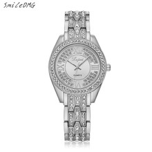High Quality Female Watch Rhinestone Bling Stainless Steel Crystal Women Quartz Wristwatch Watch Sale Free Shipping,Nov 25