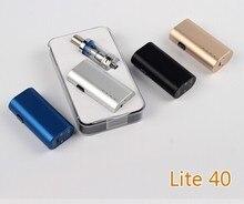 100%เดิมใหม่เข้ามาทางEบุหรี่สมัยLite 40กล่องสมัย40วัตต์บุหรี่อิเล็กทรอนิกส์เริ่มต้นกล่องvaporizerสมัยที่มี4มิลลิลิตรเครื่องฉีดน้ำ