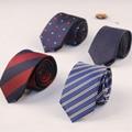 2017 New Arrival Ties for Men Business Striped & Print Polyester Silk Neck Tie 6cm Slim Neckties Wedding Suits gravatas corbatas