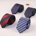 2017 Nueva Llegada para Los Hombres de Negocios de Rayas y Estampado poliéster Corbata de Seda 6 cm Delgado Trajes de Boda Corbatas gravatas corbatas