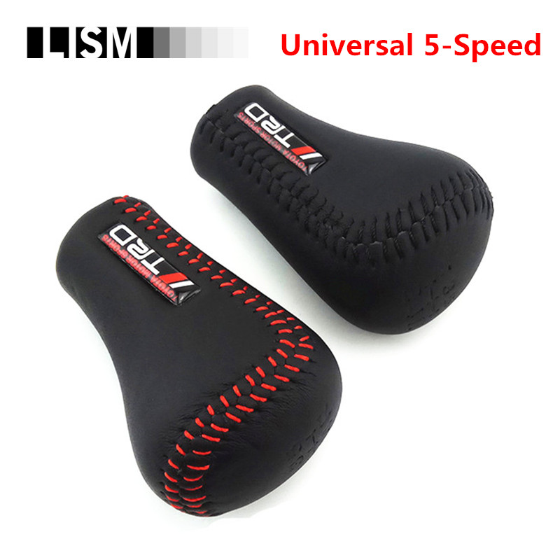 TRD Universal PU Leather Gear Shift Knob Gearshift Shifter Stick Lever Headball MT Pen POMO ARM MOMO for TOYOTA for Volkswagen трикси игрушка для собаки осел ткань плюш 55 см page 3