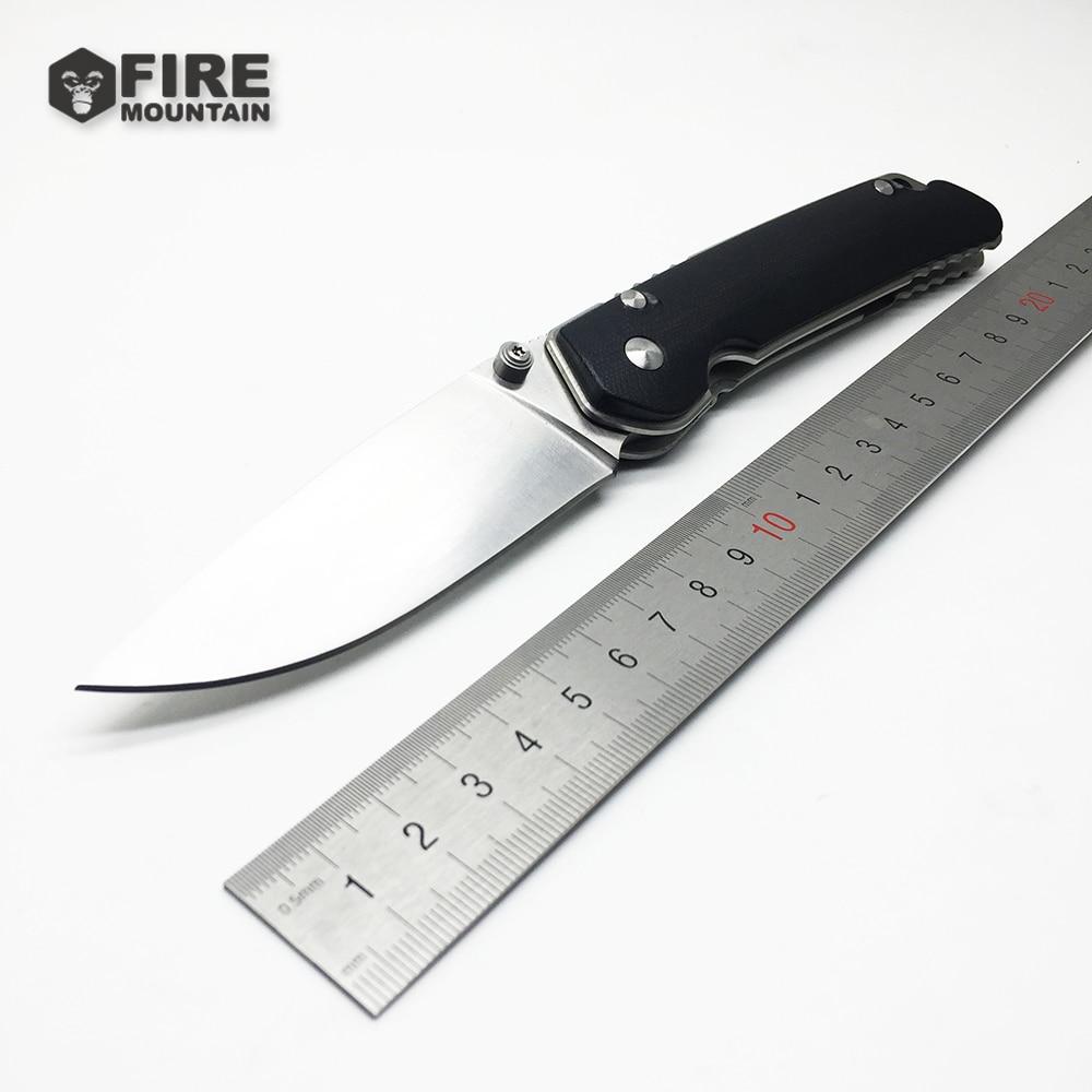 BMT Özel Katlanır Bıçak Rulmanlar Flipper D2 çelik blade G10 + çelik kolu açık Taktik avı kamp bıçaklar EDC aracı