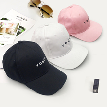 Summer Baseball Cap New Cotton Mens Hat Youth Letter Print E