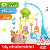 Newborn Infant Baby Music Bed Bell Toys For Children Boys Girls On 360 Degree Portable Bed Bell Cribs Mobile Musical Box Rattles