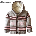 el bebe oso Winter&Autumn Baby Boys Girls Sweaters Cardigan Coat Fleece Thick Warm Cotton Clothing Knitted Hooded Jacket XL50