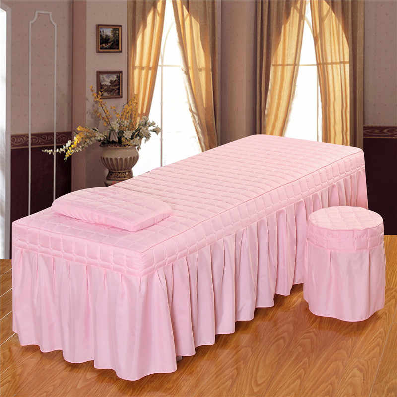 1PC Menampilkan Kecantikan Tempat Tidur Rok Salon Kecantikan Seprai dengan Lubang Ungu Polyester/Cotton 5 Ukuran 11 Pilihan Warna # S