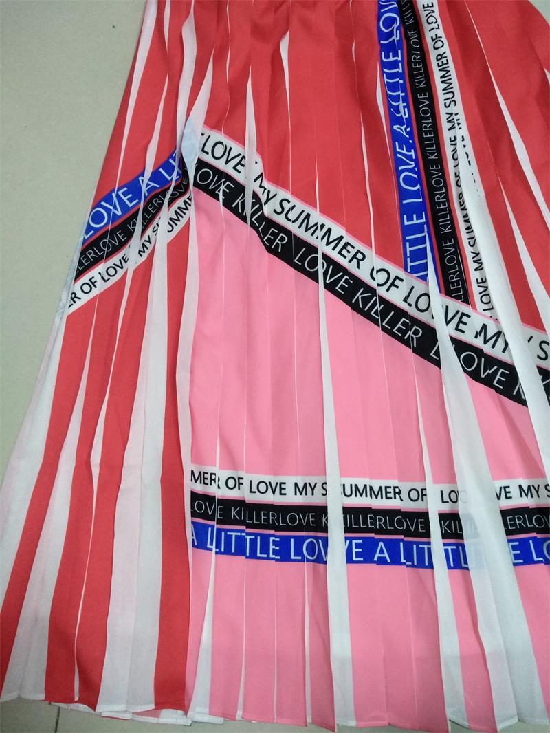 2019 جديد وصول النساء الوردي التنانير و مطوي يتوهم التنانير للسيدات و الفتيات لفصل الصيف-في تنورة من ملابس نسائية على  مجموعة 2