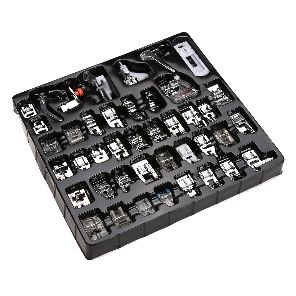 42 Pcs Domestic Sewing Machine Foot Feet Snap On For Brother Singer Leather Dye Cat Kulit Tool Peralatan Handmade 1 X Set42pcs Of