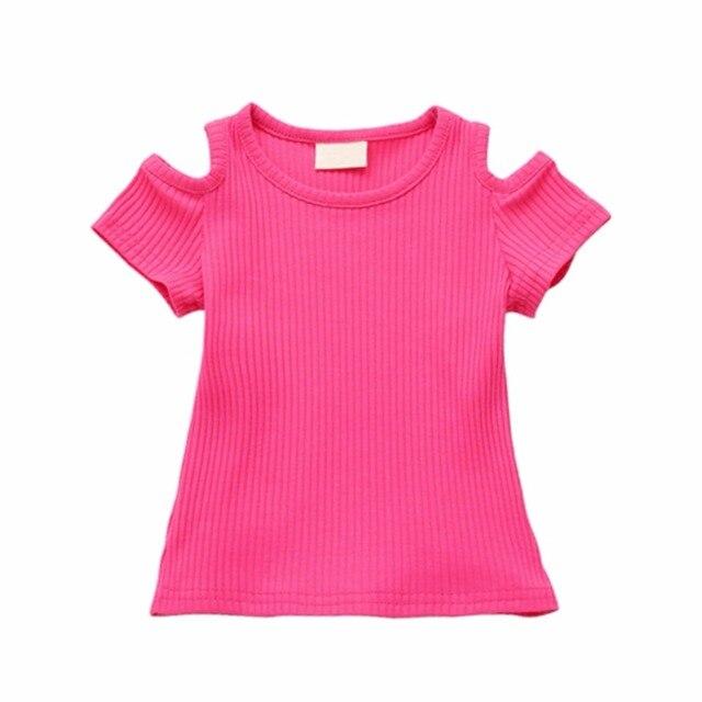 חולצות t תינוקות בנות 100% כותנה באיכות 2018 מותג חדש בגדי ילדי קיץ תינוקת Bebe ילדי שרוול קצרים בגדים
